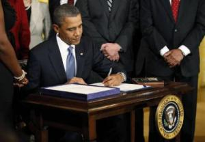 Small business bill signing